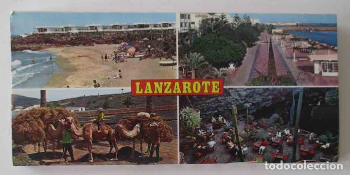 BLOC DESPLEGABLE DE 10 POSTALES FOTOGRAFICAS DE LANZAROTE (Postales - España - Canarias Moderna (desde 1940))