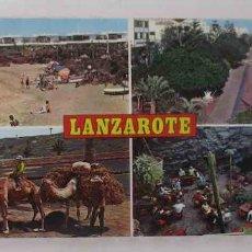 Postales: BLOC DESPLEGABLE DE 10 POSTALES FOTOGRAFICAS DE LANZAROTE. Lote 107587259