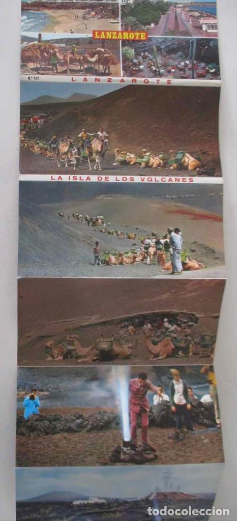 Postales: BLOC DESPLEGABLE DE 10 POSTALES FOTOGRAFICAS DE LANZAROTE - Foto 2 - 107587259