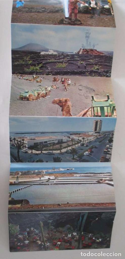 Postales: BLOC DESPLEGABLE DE 10 POSTALES FOTOGRAFICAS DE LANZAROTE - Foto 3 - 107587259
