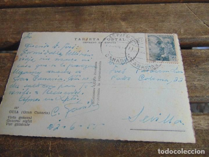 Postales: TARJETA POSTAL DE GUIA GRAN CANARIA CIRCULADA - Foto 2 - 110639647