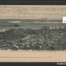 Postales: LAS PALMAS DE GRAN CANARIA - SACADA DE UN CHINCHORRO - P23587. Lote 112922319