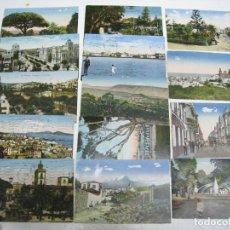 Postales: CANARIAS. LAS PALMAS. TENERIFE. SANTA CRUZ. LOTE 13 POSTALES COLOREADAS ORIGINALES. Lote 112982219
