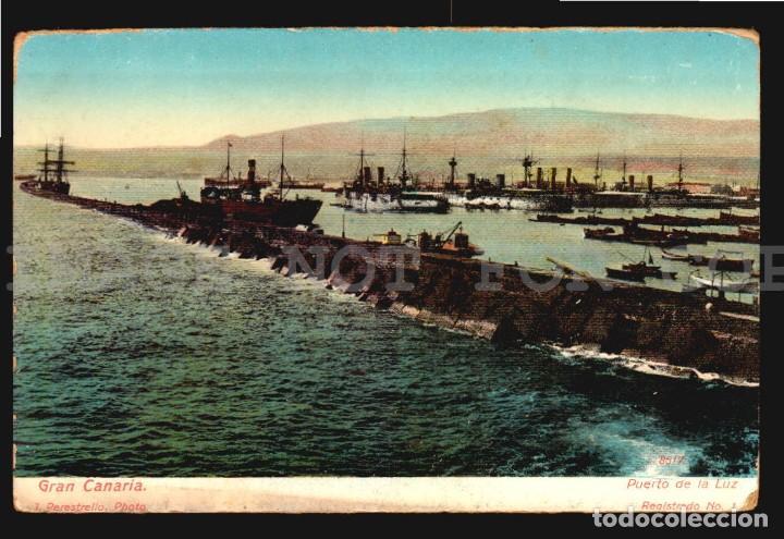 GRAN CANARIA PUERTO DE LA LUZJ. PERESTRELLO Nº1 - ANTIGUA TARJETA POSTAL ORIGINAL DE EPOCA CA 1900 (Postales - España - Canarias Antigua (hasta 1939))
