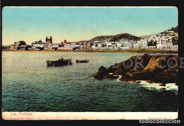 LAS PALMAS J. PERESTRELLO Nº3 - ANTIGUA TARJETA POSTAL ORIGINAL DE EPOCA CA 1900 (Postales - España - Canarias Antigua (hasta 1939))