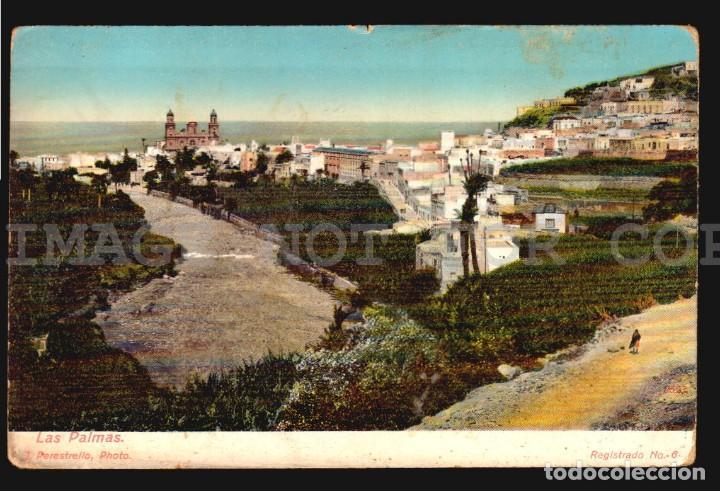 LAS PALMAS J. PERESTRELLO Nº6 - ANTIGUA TARJETA POSTAL ORIGINAL DE EPOCA CA 1900 (Postales - España - Canarias Antigua (hasta 1939))