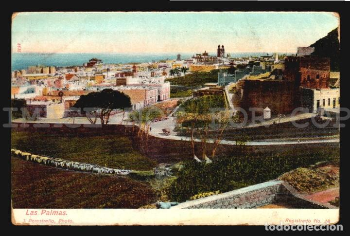 LAS PALMAS J PERESTRELLO Nº18 - ANTIGUA TARJETA POSTAL ORIGINAL DE EPOCA CA 1900 (Postales - España - Canarias Antigua (hasta 1939))