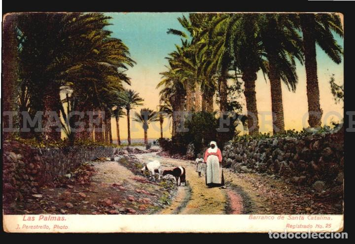 LAS PALMAS SANTA CATALINA J PERESTRELLO Nº25 - ANTIGUA TARJETA POSTAL ORIGINAL DE EPOCA CA 1900 (Postales - España - Canarias Antigua (hasta 1939))