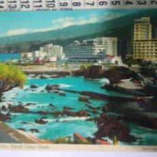 Postales: ANTIGUA FOTO POSTAL AÑO 77 CIRCULADA SELLO FRANCO.PUERTO CRUZ TENERIFE CONGRESO MUNDIAL BALONCESTO. Lote 114285692