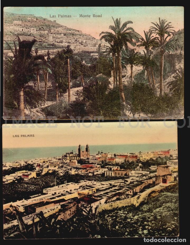 LAS PALMAS GRAN CANARIA 2 ANTIGUAS TARJETAS POSTALES (Postales - España - Canarias Antigua (hasta 1939))