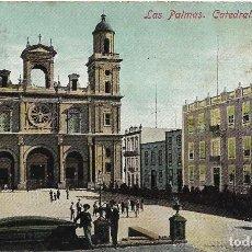 Postales: LAS PALMAS .- CATEDRAL .- EDICION J. PERESTRELLO Nº 18. Lote 115208835