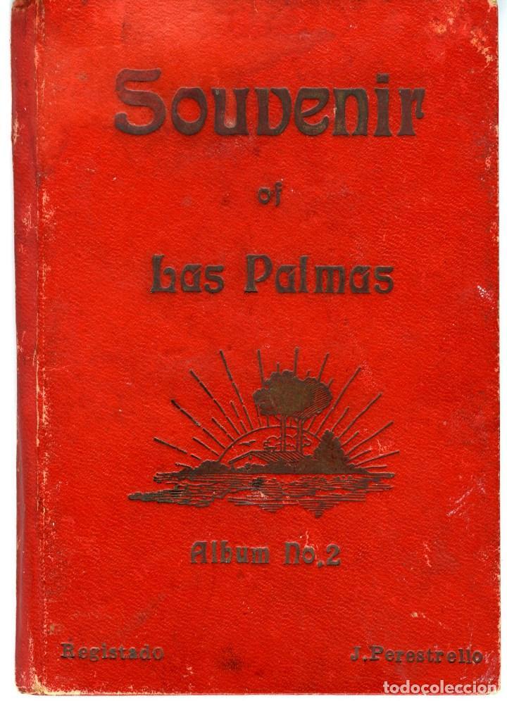 LAS PALMAS. ALBUM-ESTUCHE CON 12 POSTALES SIGLO XIX FORMANDO ACORDEÓN. EDICION J. PERESTRELLO. VER.. (Postales - España - Canarias Antigua (hasta 1939))