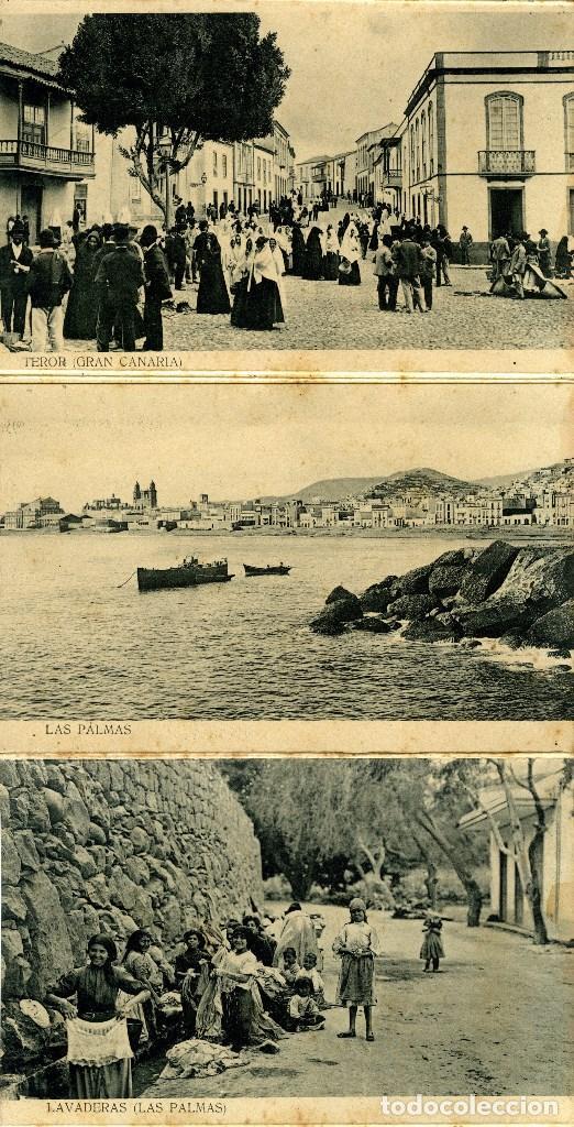 Postales: LAS PALMAS. ALBUM-ESTUCHE CON 12 POSTALES SIGLO XIX FORMANDO ACORDEÓN. EDICION J. PERESTRELLO. VER.. - Foto 2 - 115244803