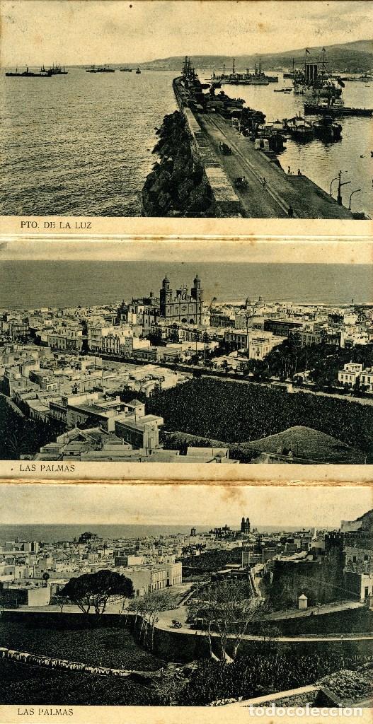Postales: LAS PALMAS. ALBUM-ESTUCHE CON 12 POSTALES SIGLO XIX FORMANDO ACORDEÓN. EDICION J. PERESTRELLO. VER.. - Foto 3 - 115244803