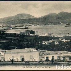 Postales: POSTAL CANARIAS LAS PALMAS PUERTO DE LA LUZ . CA AÑO 1905. Lote 115919407