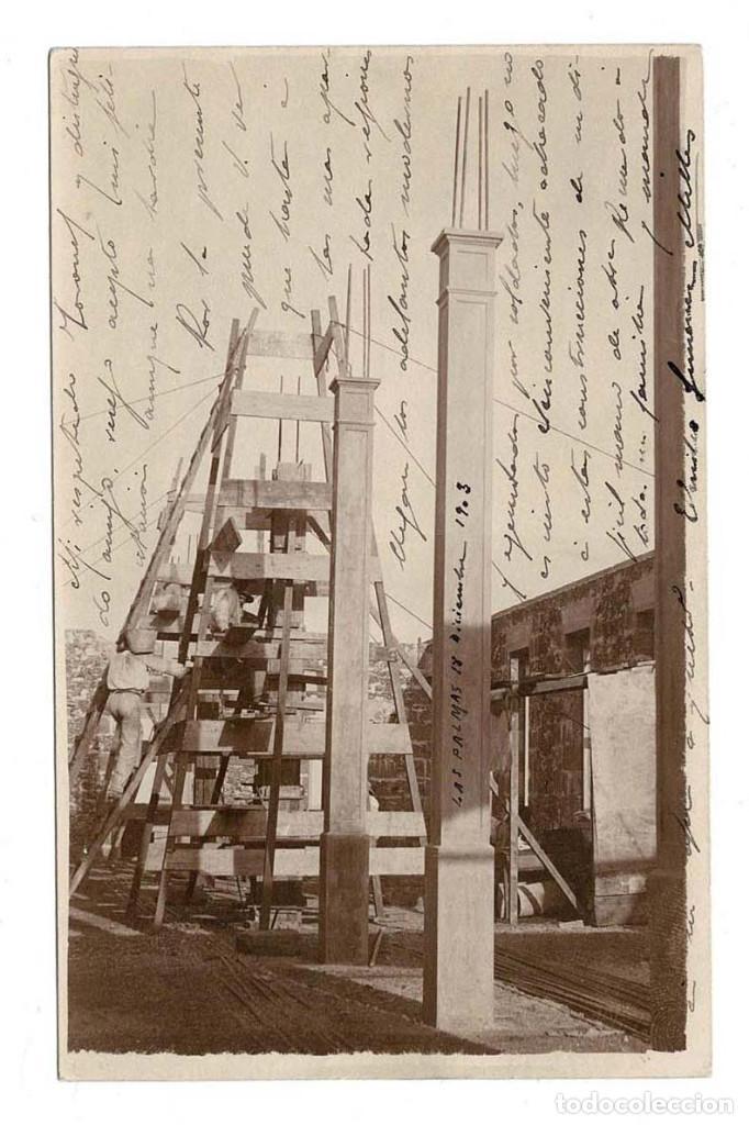 LAS PALMAS 1903 POSTAL FOTOGRÁFICA CONSTRUCCIÓN DE UN EDIFICIO. (Postales - España - Canarias Antigua (hasta 1939))
