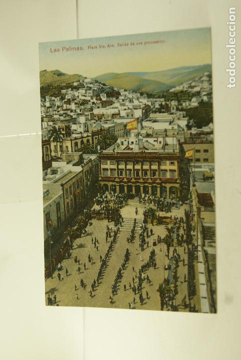 LAS PALMAS PROCESION COLOREADA (Postales - España - Canarias Antigua (hasta 1939))