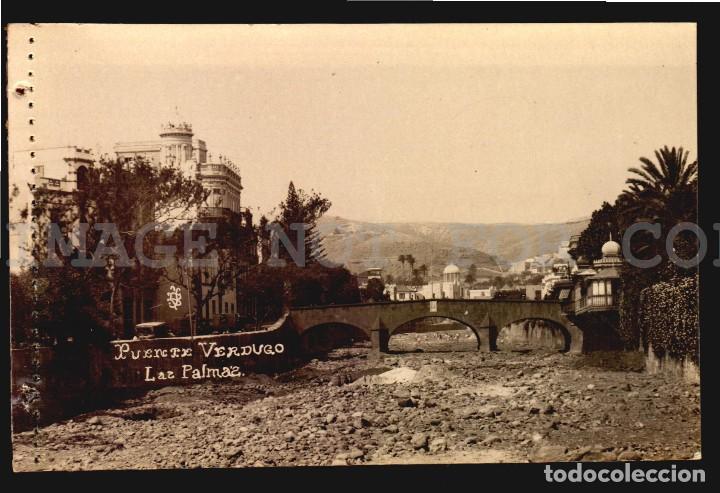 PUENTE VERDUGO LAS PALMAS TARJETA POSTAL FOTOGRAFICA CA1900 ED. JUAN BONNET (Postales - España - Canarias Antigua (hasta 1939))