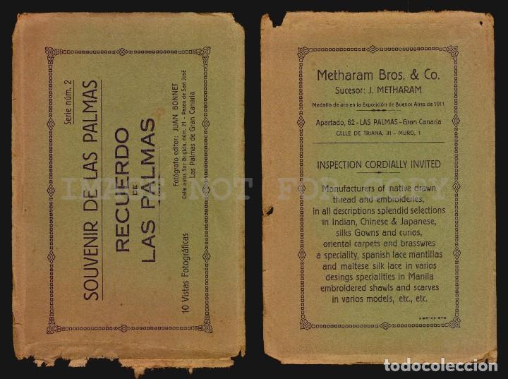 Postales: CALLE DEL CASTILLO AUTO MULA LAS PALMAS TARJETA POSTAL FOTOGRAFICA CA1900 Ed. JUAN BONNET - Foto 3 - 117537151