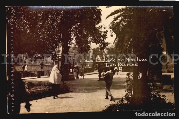 PLAZA HURTADO LUSTRABOTAS SHOEBLACK LAS PALMAS TARJETA POSTAL FOTOGRAFICA CA1900 ED. JUAN BONNET (Postales - España - Canarias Antigua (hasta 1939))