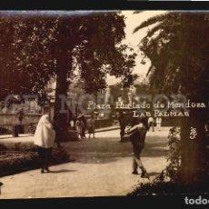 Postales: PLAZA HURTADO LUSTRABOTAS SHOEBLACK LAS PALMAS TARJETA POSTAL FOTOGRAFICA CA1900 ED. JUAN BONNET. Lote 117538087