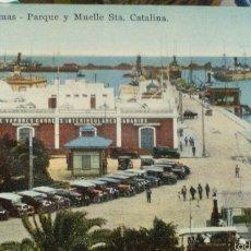Postales: POSTAL. CANARIAS. LAS PALMAS. MUELLE. STA CATALINA. Lote 117555319