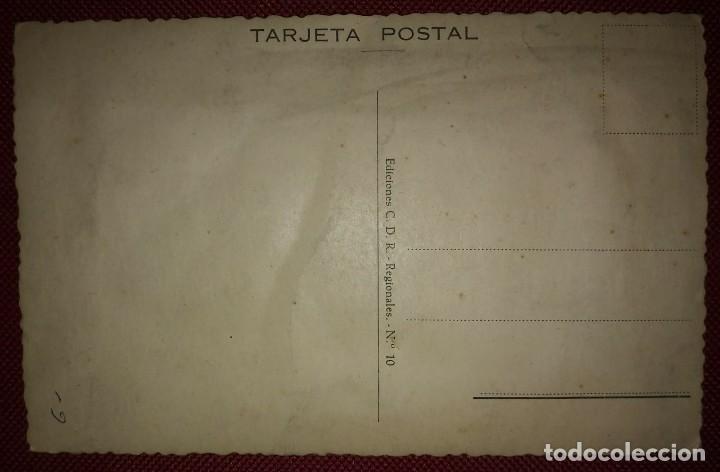 Postales: TENERIFE Postal bordada con hilo traje típico Tenerife Ediciones C.D.R. Regionales nº10 J.Briones - Foto 3 - 118033571