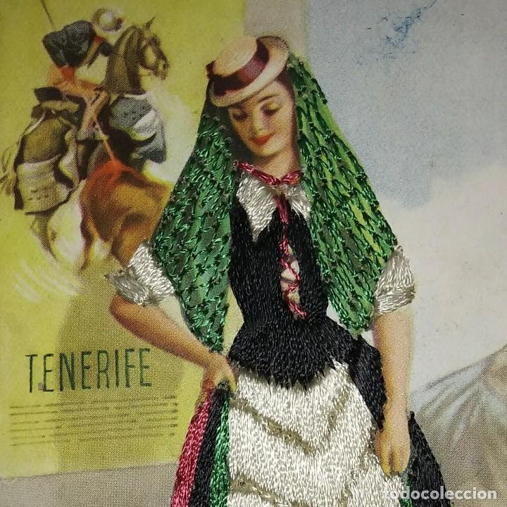 Postales: TENERIFE Postal bordada con hilo traje típico Tenerife Ediciones C.D.R. Regionales nº10 J.Briones - Foto 4 - 118033571