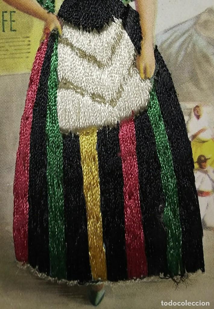Postales: TENERIFE Postal bordada con hilo traje típico Tenerife Ediciones C.D.R. Regionales nº10 J.Briones - Foto 5 - 118033571
