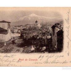 Postales: TENERIFE.- PEAK DE TENERIFE - BAZAR ALEMAN. LAS PALMAS - SELLO PELÓN. Lote 119598335