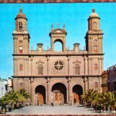 Postales: LAS PALMAS DE GRAN CANARIA - PLAZA DE SANTA ANA Y CATEDRAL. Lote 119852779