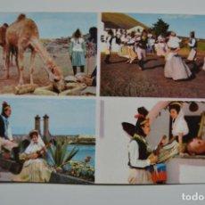 Postales: LANZAROTE. PAISAJES VARIOS. FOTO GABRIEL. CIRCULADA.. Lote 119953379