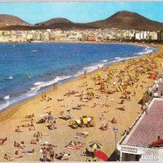 Postales: LAS PALMAS DE GRAN CANARIA - PLAYA LAS CANTERAS. Lote 120099771