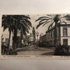 Postales: LAS PALMAS DE GRAN CANARIA. POSTAL NO.88 CALLE OBISPO CODINA (H.1950?). Lote 120586636