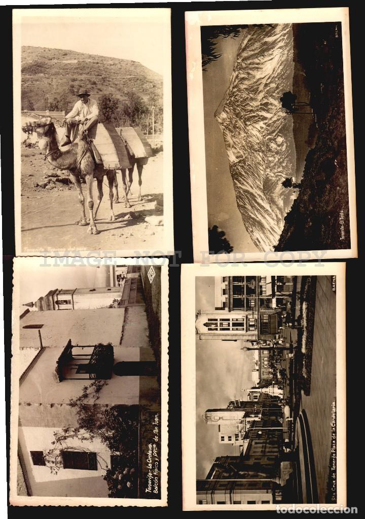 TENERIFE ISLAS CANARIAS 4 TARJETAS POSTALES CA1900 TIPO FOTOGRAFIA (Postales - España - Canarias Antigua (hasta 1939))