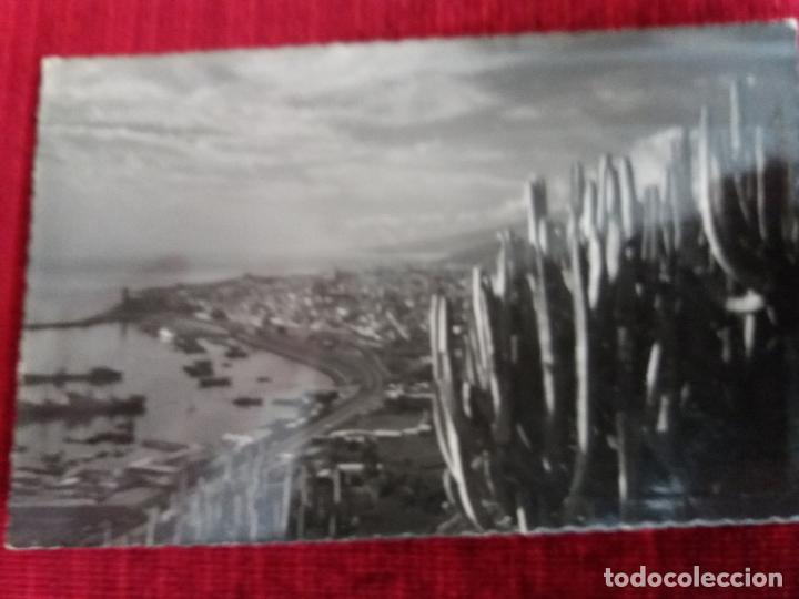 SANTA CRUZ DE TENERIFE, VISTA PARCIAL DE PUERTO. ED LUJO 70. CIRCULADA 1955 (Postales - España - Canarias Moderna (desde 1940))