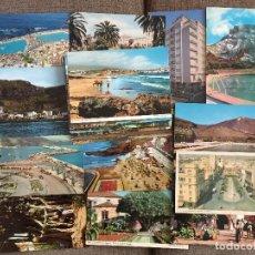Postales: LOTE 46 POSTALES DE TENERIFE PUERTO DE LA CRUZ OROTAVA TACARONTE ICOD GARACHICO LANZAROTE ETC... Lote 125302815
