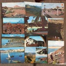 Postales: LOTE 15 POSTALES DE LANZAROTE CANARIAS. Lote 125308151