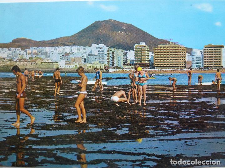 POSTAL. LA PLAYA DE LAS CANTERAS, VISTA DESDE LA BARRA. RO-FOTO. SIN CIRCULAR. (Postales - España - Canarias Moderna (desde 1940))