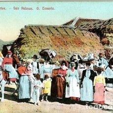 Postales: LAS PALMAS. (ISLAS CANARIAS). TIPOS CANARIOS. . Lote 126757651
