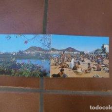 Postales: LOTE DE DOS POSTALES CANARIAS, PLAYA DE LAS CANTERAS Y ARUCAS. Lote 127116327