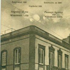 Postais: LAS PALMAS CASA BAZAR ALEMÁN. EDITOR DE POSTALES. TRIANA. MUY RARA.HACIA 1910.. Lote 127249307