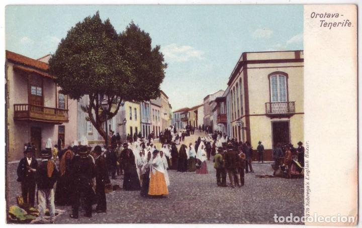 LA OROTAVA (TENERIFE). NOBREGAS ENGLISH BAZAR. NO CIRCULADA (AÑOS 10) (Postales - España - Canarias Antigua (hasta 1939))