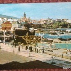 Postales: PUERTO DE LA CRUZ - TENERIFE - AVENIDA CRISTOBAL COLON Y PISCINA DE SAN TELMO. Lote 130036095