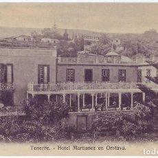 Postales: TENERIFE: HOTEL MARTIANEZ EN OROTAVA. NOBREGAS ENGLISH BAZAR. NO CIRCULADA (AÑOS 10). Lote 130568318