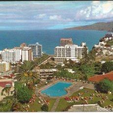 Postales: [POSTAL] VISTA PARCIAL. INSTALACIONES HOTELERAS. PUERTO DE LA CRUZ (CANARIAS) AÑO 1972 (CIRCULADA). Lote 130885636