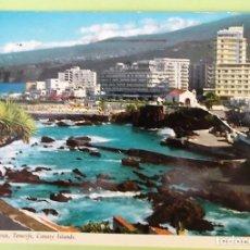 Postales: TENERIFE. PUERTO DE LA CRUZ. JOHN HINDE. USADA CON SELLO. COLOR. Lote 130920028
