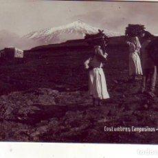 Postales: TENERIFE - COSTUMBRES - CAMPESINOS FOTO-F.B.. Lote 130945420