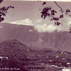 Postales: TENERIFE-VALLE OROTAVA CON EL PICO DEL TEIDE. Lote 130945500