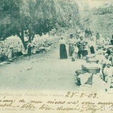 Postales: LAVADEROS PUBLICOS LAS PALMAS GRAN CANARIA. CIRCULADA EN 1903. SHIP LETTER.. Lote 131566346